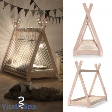 VITALISPA Kinderbett TIPI 70x140 cm Natur