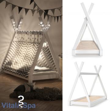 VITALISPA Kinderbett TIPI 80x160 cm Weiß