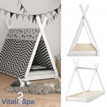 VITALISPA Kinderbett TIPI 90x200 cm Weiß