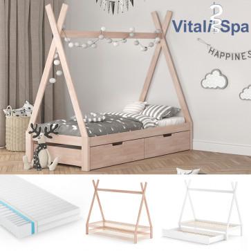 VITALISPA Kinderbett TIPI Hausbett
