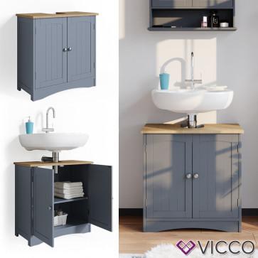 VICCO Waschtischunterschrank Bianco Grau
