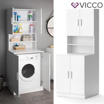 Vicco Waschmaschinenschrank Liana weiß Badschrank Hochschrank Badregal Überbau