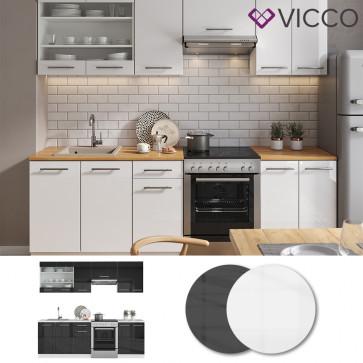 VICCO Küche FAME-LINE Küchenzeile 240cm