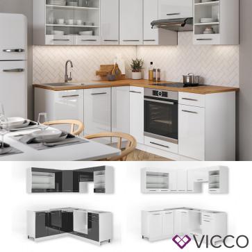 Vicco Eckküche FAME-LINE Küchenzeile 190cm