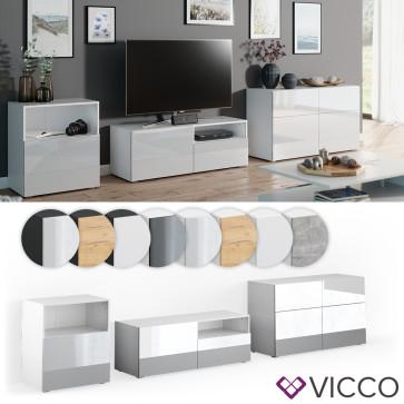 VICCO Wohnwand 3er Set COMPO Lowboard Sideboard Schrank Regal