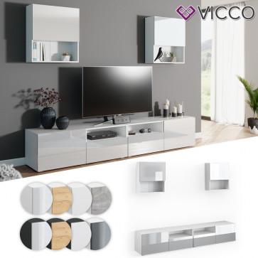 VICCO Wohnwand 4er Set COMPO Lowboard Sideboard Schrank Regal