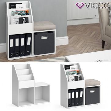 VICCO Bücherregal LUIGI weiß mini