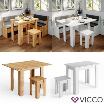 Vicco Eckbankgruppe Küchentisch Roman Esstisch mit Hocker