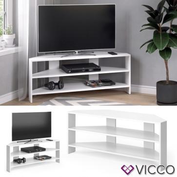 Vicco Lowboard Eck TV Board Pit weiß