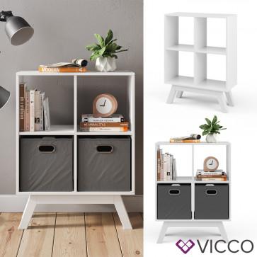 Vicco Raumteiler Tetra Weiß mit Fuß