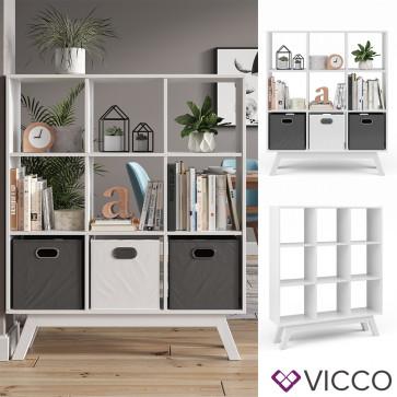 Vicco Raumteiler Nove Weiß mit Fuß