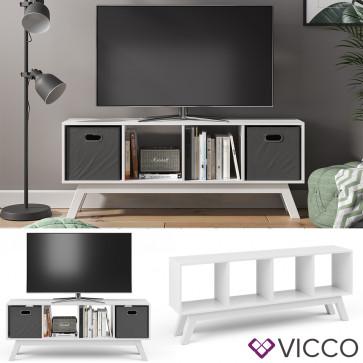Vicco Raumteiler Ludus Weiß mit Fuß