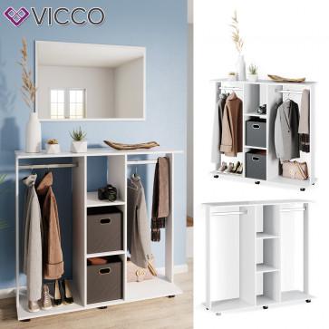Vicco mobiler Kleiderschrank Garderobenschrank Robbie Weiß
