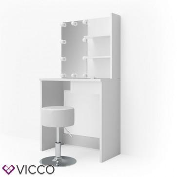 Vicco Schminktisch DEKOS Weiß mit LED und Hocker