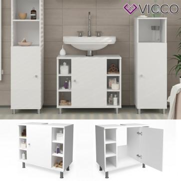 VICCO Waschbeckenunterschrank FYNN 60 cm Weiß