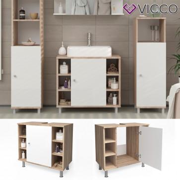 VICCO Waschbeckenunterschrank FYNN 60 cm Eiche Sonoma