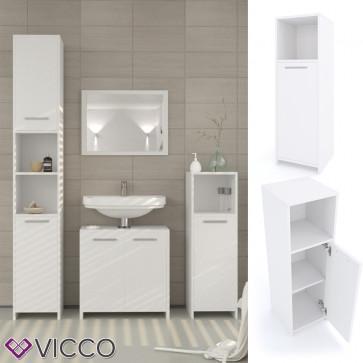 VICCO Midischrank KIKO 95 x 30 cm Weiß