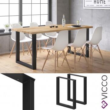 VICCO Tischbeine 2er LOFT 72x60 schwarz
