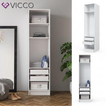VICCO Kleiderschrank COMFORT offen Einlegeboden weiß 50 x 200 x 50 cm Schubladen