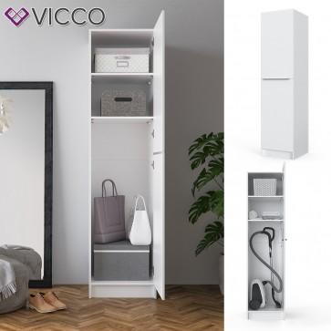 VICCO Kleiderschrank COMFORT offen Einlegeboden weiß 50 x 200 x 50 cm Schranktür