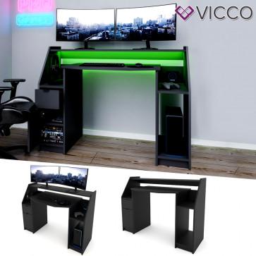 VICCO Gamingtisch JOEL Schwarz