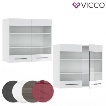 VICCO Hängeglasschrank 80cm FAME-LINE