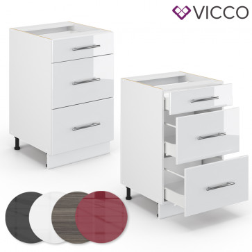 VICCO Schubunterschrank 50cm FAME-LINE
