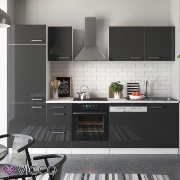 Küchenzeile Optima 270 cm Anthrazit HGL