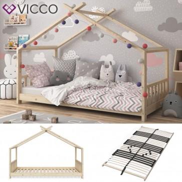 VICCO Hausbett DESIGN 90x200 Unbehandelt