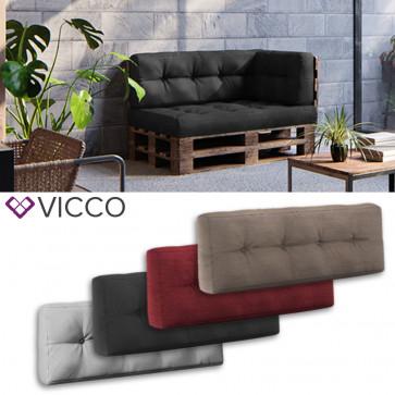 VICCO Palettenkissen Rückenkissen 120x40cm Palettenmöbel PU Schaum