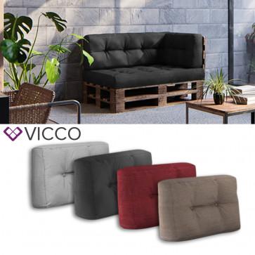 VICCO Palettenkissen Rückenkissen klein 60x40cm Seitenkissen PU Schaum