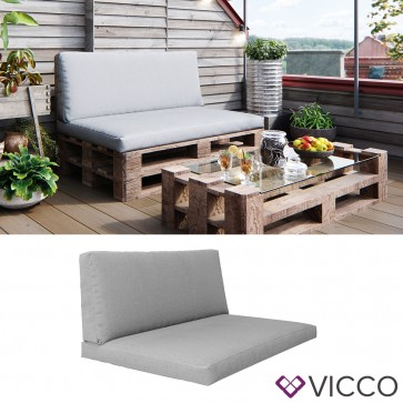 Vicco Palettenkissen Sitzkissen Rückenkissen Grau