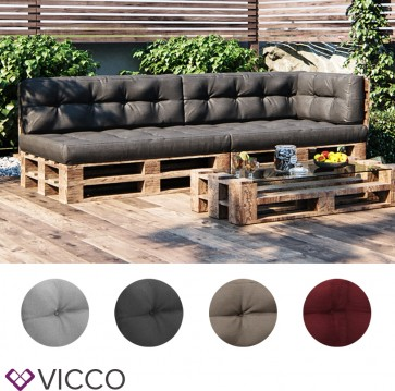 VICCO Palettenkissen Set 2+2+1
