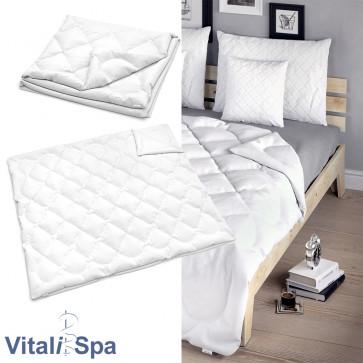 VitaliSpa Bettdecke Weiß Sommerdecke 220 x 200 cm