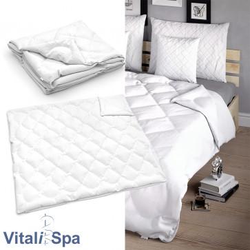 VitaliSpa Bettdecke Weiß Winterdecke 220 x 200 cm