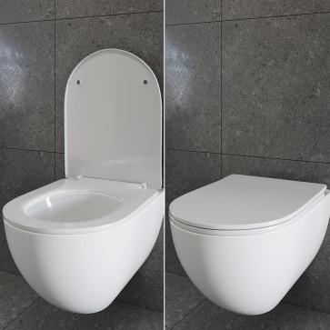 WC Sitz Toilettensitz Toilettendeckel Kunststoff Absenkautomatik Deckel