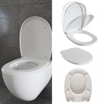 WC Sitz Toilettensitz Toilettendeckel Kunststoff Absenkautomatik Deckel antibakterielle Beschichtung