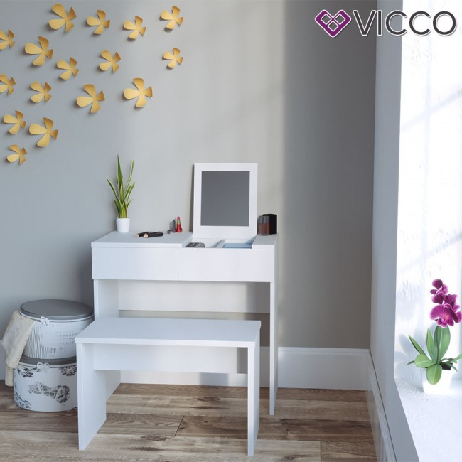 vicco schminktisch mia mit hocker. Black Bedroom Furniture Sets. Home Design Ideas