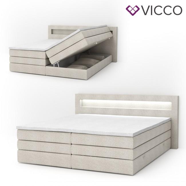 design boxspringbett mit bettkasten doppelbett ehebett. Black Bedroom Furniture Sets. Home Design Ideas