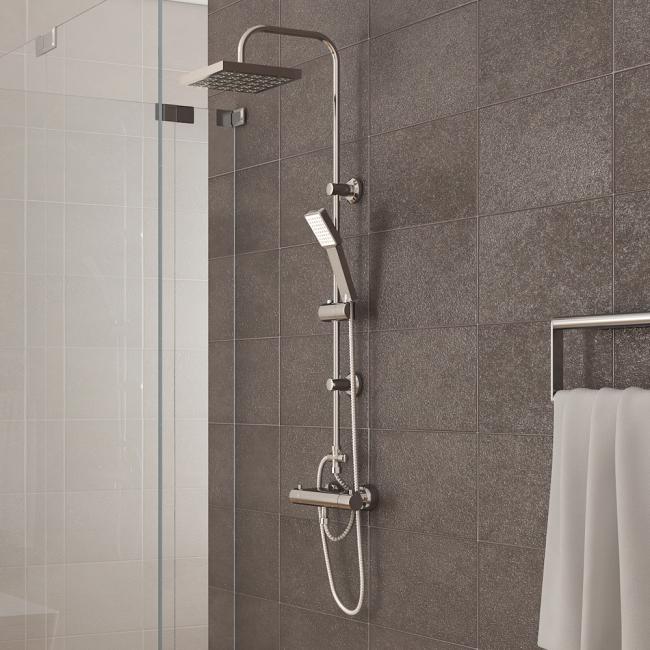 Regendusche duschpaneel inkl handbrause for Ducha lluvia