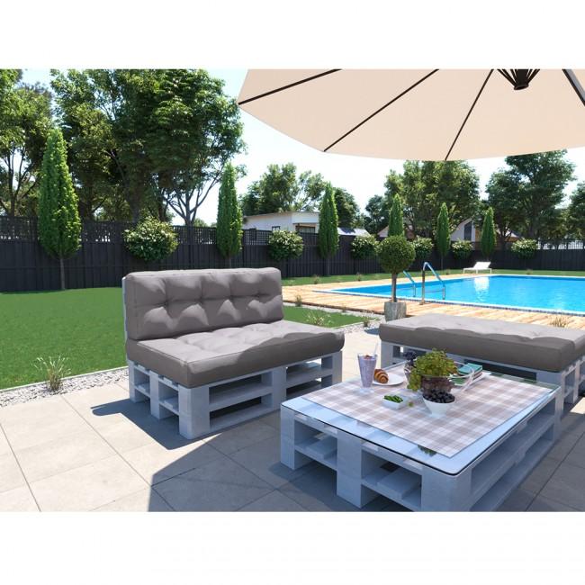 palettenkissen set sitz und r ckenkissen grau. Black Bedroom Furniture Sets. Home Design Ideas