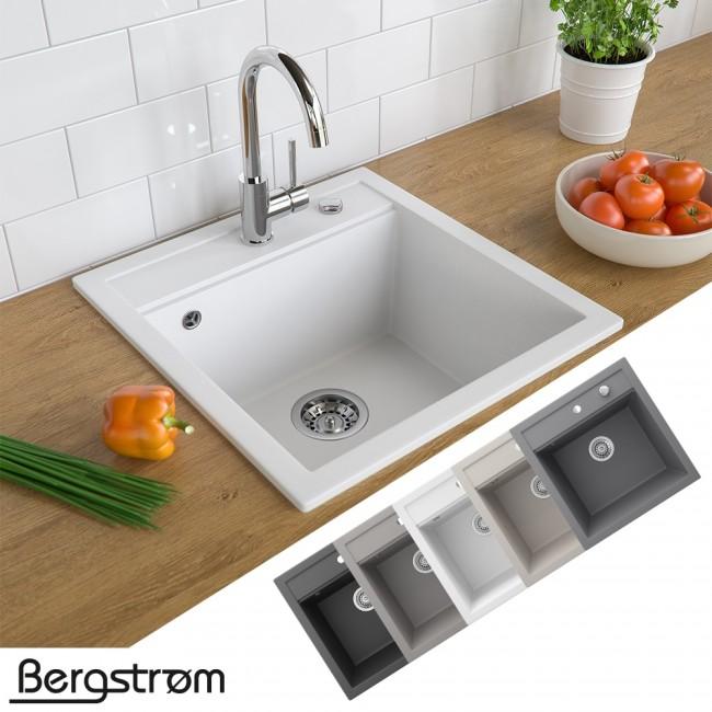 Bergström Granit Spüle Küchenspüle Einbauspüle Spülbecken 490x500mm