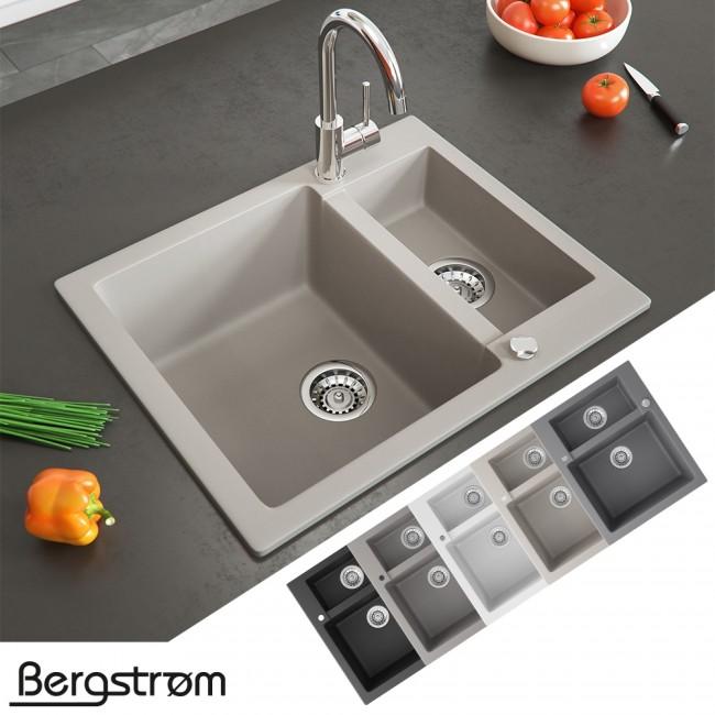 Bergström Granit Spüle Küchenspüle Einbauspüle Spülbecken 580x400mm