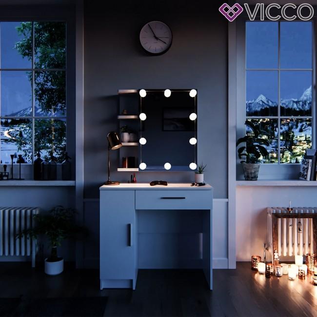 vicco schminktisch fynnia mit led beleuchtung. Black Bedroom Furniture Sets. Home Design Ideas
