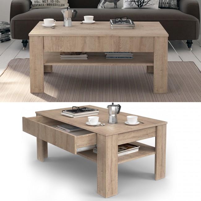 couchtisch wohnzimmertisch sonoma eiche matt beistelltisch. Black Bedroom Furniture Sets. Home Design Ideas