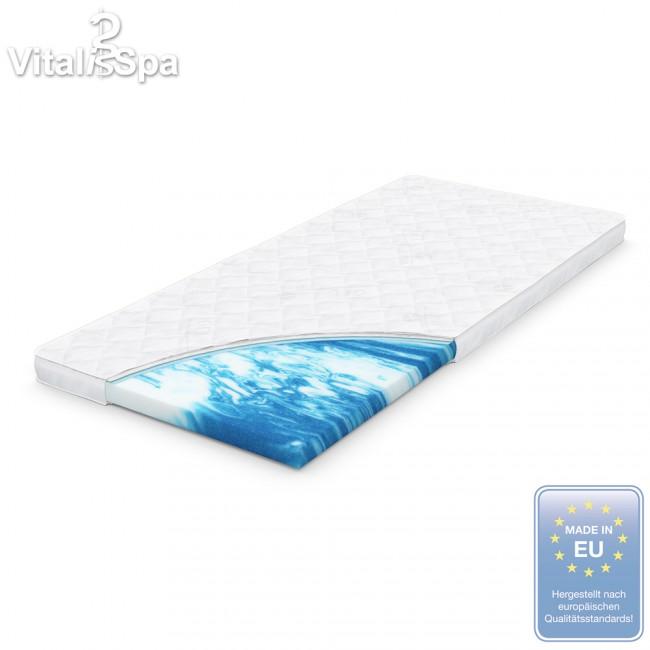 vitalispa gel schaum topper matratzenauflage visco viscoelatische auflage matratzentopper. Black Bedroom Furniture Sets. Home Design Ideas