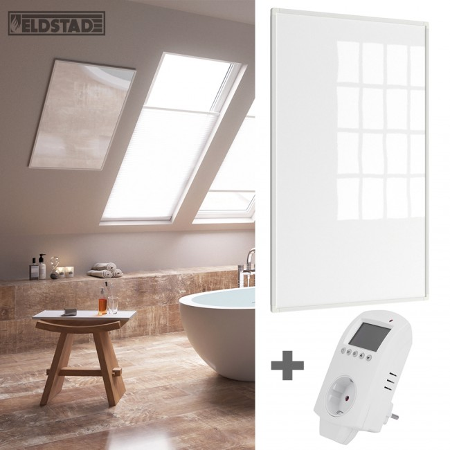 eldstad infrarotheizung 600 watt thermostat. Black Bedroom Furniture Sets. Home Design Ideas