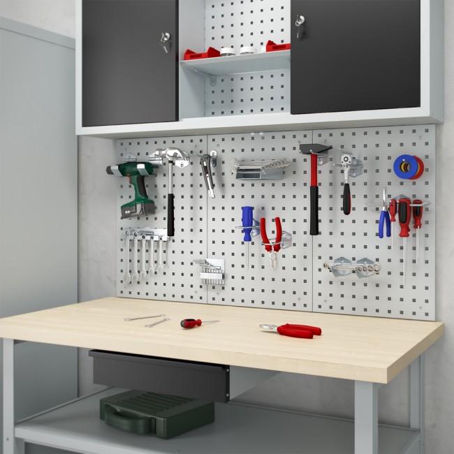 Werkstatteinrichtung Werkbank Werkzeugschrank Lochwand