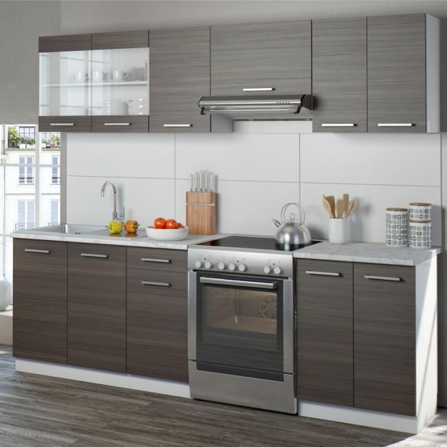 Küchenzeile Raul 240cm Edelgrau