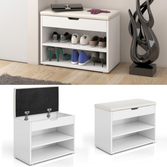 schuhbank schuhe schuhregal schuhschrank regal bank. Black Bedroom Furniture Sets. Home Design Ideas
